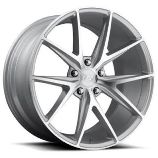 NICHE WHEELS  MISANO M118 SILVER MACHINED RIM