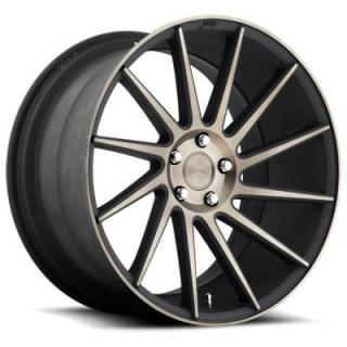 NICHE WHEELS  SURGE M114 BLACK RIM with MACHINED FACE DDT