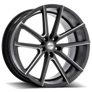 V5 MILLED SATIN GRAPHITE RIM from SPORZA WHEELS