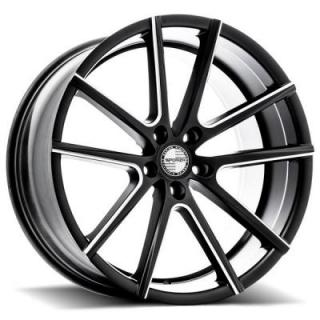 V5 MILLED SATIN BLACK RIM from SPORZA WHEELS