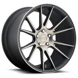 NICHE WHEELS  VICENZA M153 BLACK RIM with MACHINED FACE DDT