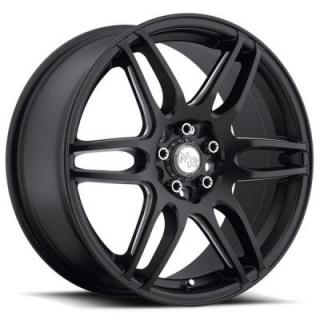 NICHE WHEELS  NR6 M106 MATTE BLACK RIM with MILLED SPOKES