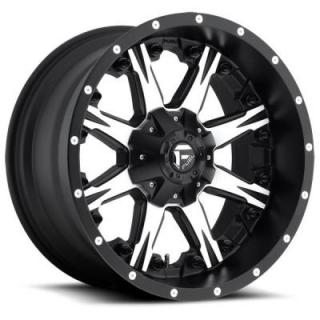 NUTZ D541 BLACK RIM with MACHINED FACE by FUEL OFFROAD WHEELS