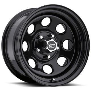 VISION WHEELS   SOFT-8 85 RWD BLACK RIM cap is additional $15 each