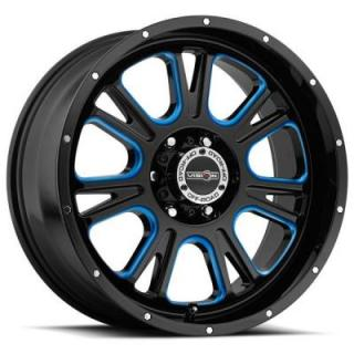 VISION WHEELS   FURY 399 RWD OFF-ROAD GLOSS BLACK RIM with BLUE TINT WINDOWS