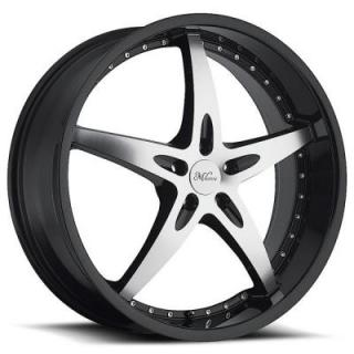 MILANNI WHEELS  ZS-1 453 FWD GLOSS BLACK RIM with MACHINED FACE and BLACK LIP