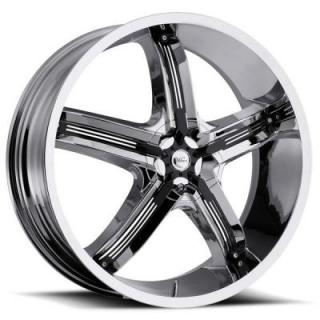 MILANNI WHEELS  BEL AIR 5 459 FWD CHROME RIM with BLACK INSERTS