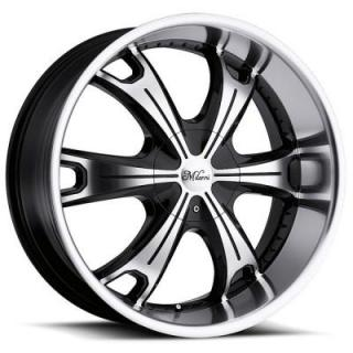 MILANNI WHEELS  STELLAR 452 GLOSS BLACK/MACHINED