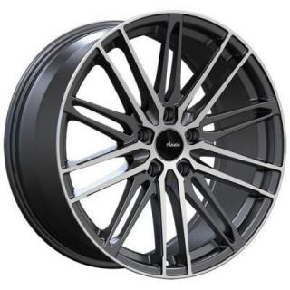 SPECIAL BUY WHEELS  ADVANTI DS DIVISO MATTE BLACK RIM with MACHINED FACE PPT DISPLAY SET 1 SET ONLY