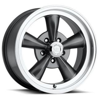 VISION WHEELS   LEGEND 5 TYPE 141 GUNMETAL RIM with MACHINED LIP