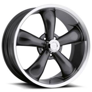 VISION WHEELS   LEGEND 5 TYPE 142 RWD GUNMETAL RIM with MACHINED LIP
