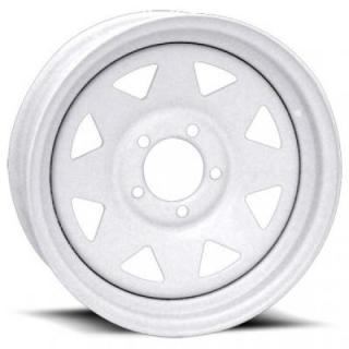 VISION WHEELS   70 SERIES 8 SPOKE TRAILER WHITE RIM
