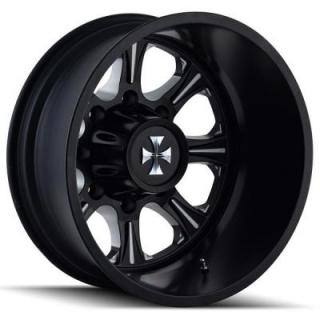 CALI OFF-ROAD WHEELS  BRUTAL 9105 DUALLY BLACK REAR RIM with MILLED SPOKES
