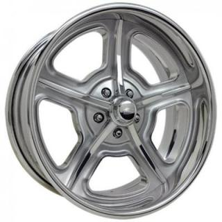 BILLET SPECIALTIES WHEELS  VINTAGE SERIES HERITAGE C BRUSHED CLEAR RIM