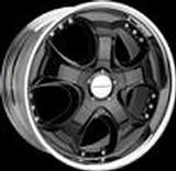 SPEEDY WHEELS  VICTORY SUV BLACK RIM with CHROME LIP