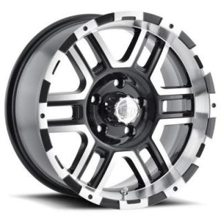 TYPE 179 BLACK RIM with MACHINED FACE and LIP by ION ALLOY WHEELS