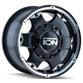 TYPE 194 BLACK RIM with MACHINED FACE by ION ALLOY WHEELS