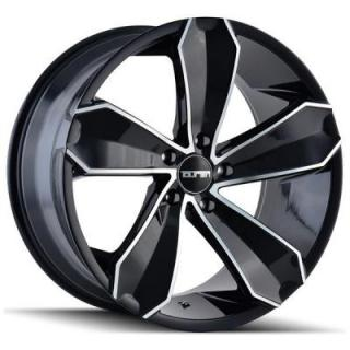 TR71 BLACK RIM with MACHINED FACE by TOUREN WHEELS