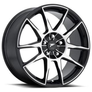 F72 BLACK-OUT BLACK RIM with MACHINED FACE by FORTE WHEELS