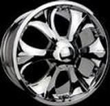 SPEEDY WHEELS  WARRIOR I CHROME RIM