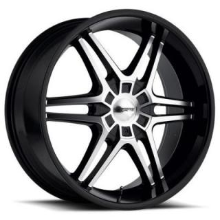 F64 CAHOOTS BLACK RIM with MIRROR FACE by FORTE WHEELS