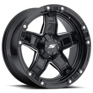 SENDEL WHEELS   SENDEL S31 MIA BLACK RIM with MILLED ACCENTS