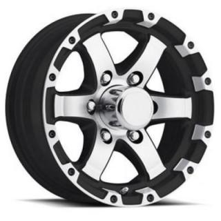 TRAILER T08 GLOSS BLACK RIM with MACHINED FACE and LIP by SENDEL WHEELS
