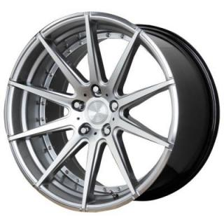 VERDE WHEELS  INSIGNIA HYPER SILVER MACHINED RIM