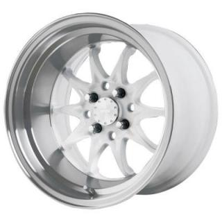 VERDE WHEELS  BOOST GLOSS WHITE RIM with MACHINED LIP