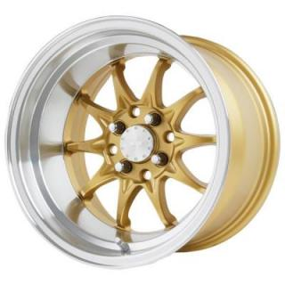VERDE WHEELS  BOOST GLOSS GOLD RIM with MACHINED LIP