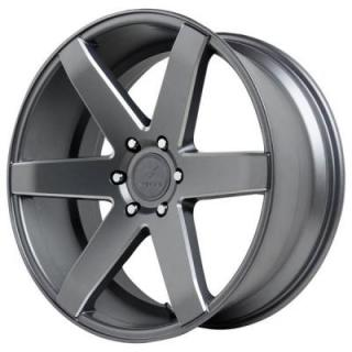 VERDE WHEELS  INVICTUS MATTE GRAPHITE RIM with MILLED WINDOWS