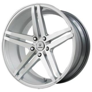 VERDE WHEELS  PARALLAX MATTE SILVER RIM with MATTE MACHINED FACE