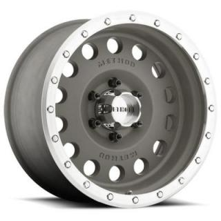 STREET MR307 HOLE MAGNESIUM GREY RIM with MACHINED LIP by METHOD RACE WHEELS