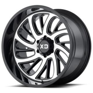 XD826 SURGE GLOSS BLACK RIM wth MACHINED FACE by XD SERIES WHEELS