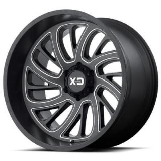 XD826 SURGE SATIN BLACK MILLED RIM by XD SERIES WHEELS