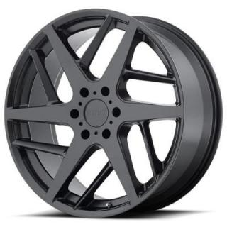 KMC WHEELS  KM699 TWO FACE SATIN BLACK RIM
