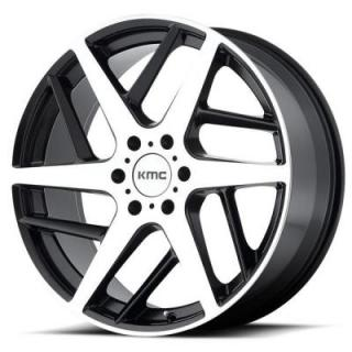 KMC WHEELS  KM699 TWO FACE SATIN BLACK RIM with MACHINED FACE