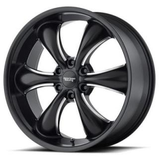 AMERICAN RACING WHEELS  AR914 TT60 TRUCK SATIN BLACK MILLED RIM