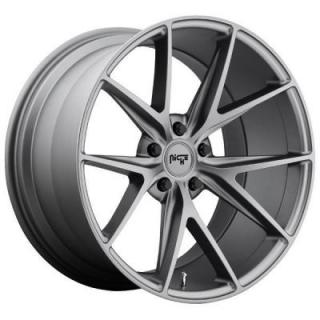 SPECIAL BUY WHEELS  NICHE MISANO M116 ANTHRACITE RIM DISPLAY SET 1 SET ONLY - SOLD AS IS
