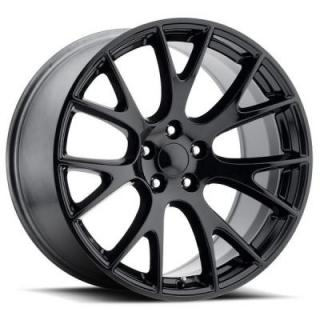 FACTORY REPRODUCTIONS WHEELS  DODGE HELLCAT STYLE 70 GLOSS BLACK RIM
