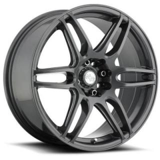 SPECIAL BUY WHEELS  NR6 M105 GLOSS GUNMETAL RIM with MILLED SPOKES DISPLAY SET 1 SET ONLY - SOLD AS IS