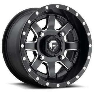 MAVERICK UTV D538 BLACK RIM with MILLED ACCENTS by FUEL OFFROAD WHEELS