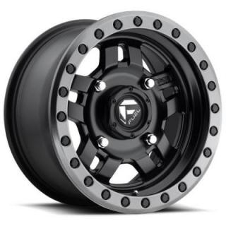 FUEL OFFROAD WHEELS  ANZA UTV D557 MATTE BLACK RIM with ANTHRACITE RING