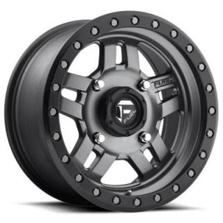 FUEL OFFROAD WHEELS  ANZA UTV D558 MATTE ANTHRACITE RIM with BLACK RING