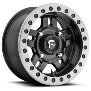 FUEL OFFROAD WHEELS  ANZA UTV D917 MATTE BLACK RIM with ANTHRACITE RING