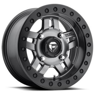 ANZA UTV D918 MATTE ANTHRACITE RIM with BLACK RING by FUEL OFFROAD WHEELS