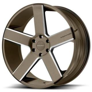 KMC WHEELS  KM690 MC 5 BRONZE RIM with MILLED ACCENTS
