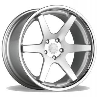CS-6.0 SILVER MACHINED RIM with CHROME LIP by CONCEPT ONE WHEELS