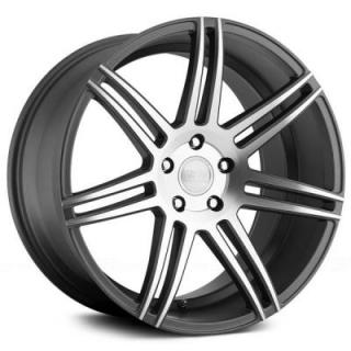 CONCEPT ONE WHEELS  CSM7 MATTE GUNMETAL RIM with MACHINED FACE