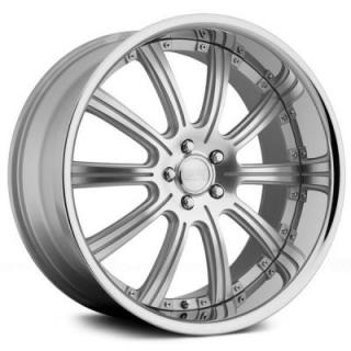 RS-10 SILVER MACHINED RIM by CONCEPT ONE WHEELS